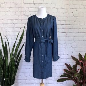 NWT Loft Chambray Button Down Dress